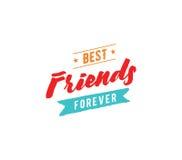 Typografisches Design des glücklichen Freundschaftstagesvektors Stockbild