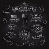 Typografisches Element für Menürestaurant-Tafelweinlese Lizenzfreie Stockfotografie
