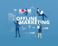 Typografisches Plakat des Offlinemarketings Stockbild