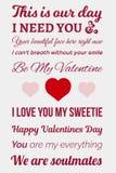 Typografisches Valentinsgrußbild Stockbild