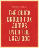 Typografisk affisch Fotografering för Bildbyråer