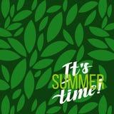 Typografisk affisch för sommarmotivation också vektor för coreldrawillustration Arkivbild
