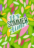 Typografisk affisch för sommarmotivation också vektor för coreldrawillustration Royaltyfria Foton