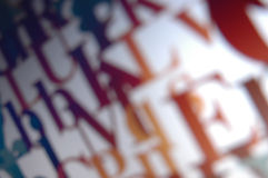 typografisk bakgrund Royaltyfri Foto