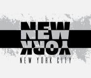 Typografisk bakgrund för citationstecken om New York City Arkivbilder