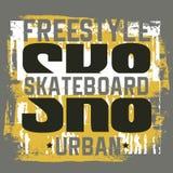 Typografisk bakgrund för citationstecken om skateboarden Arkivfoton