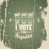 Typografisk bakgrund för citationstecken om tequila Royaltyfri Foto