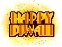 Typografisk bakgrund för Diwali beröm Arkivfoton