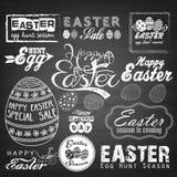 Typografisk bakgrund för påsk Illustrationer för hälsningkort royaltyfri illustrationer