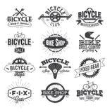 Typografisk cykeletikettdesign och logo Royaltyfri Fotografi