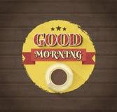 Typografisk design för bra morgon Arkivfoton