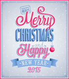Typografisk design för glad jul och för lyckligt nytt år Royaltyfri Foto
