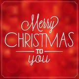 Typografisk juldesign/glad jul Royaltyfri Foto