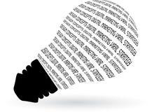typografisk lampa vektor illustrationer
