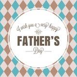 Typografisk lycklig dag för fader` s i cirkelram på rombbakgrund royaltyfri illustrationer