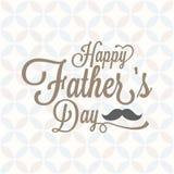 Typografisk lycklig dag för fader` s med den tappningbakgrund och mustaschen royaltyfri illustrationer