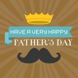 Typografisk lycklig tappning för dag för fader` s stock illustrationer