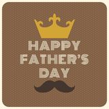 Typografisk lycklig tappning för dag för fader` s royaltyfri illustrationer