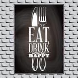 Typografisk matcitationstecken för tappning för menyn eller t-förskjutningen Arkivfoton