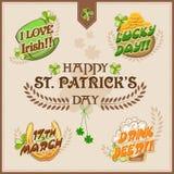Typografisk samling för Sts Patrick dagberöm Royaltyfri Bild