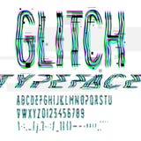 Typografisk tekniskt felstilsort med digitalt förfall Arkivbilder