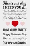 Typografisk valentinbild Royaltyfria Foton