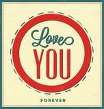 Typografisk valentindagaffisch Arkivbilder