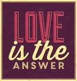 Typografisk valentindagaffisch Royaltyfria Bilder