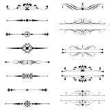 Typografiska prydnader & regellinjer Arkivbild