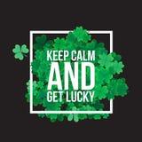 Typografiska Sts Patrick dagbakgrund Royaltyfri Foto