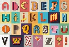 Typografistilsort arkivbild