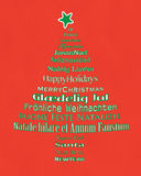 Typografiträd för glad jul Royaltyfria Foton