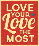 Typographic Background about Love Royalty Free Stock Images