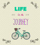 Typographic Background with Motivational Quotes, Life is a jorney Royalty Free Stock Image