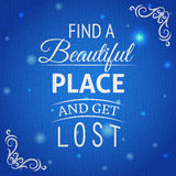 Typographic background with quote Royalty Free Stock Photography