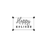 Typographic badges - Happy Holidays. On the basis of script fonts, handmade. It can be used to design your printed Stock Image
