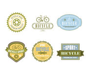 Typographic Bicycle Themed Label Design Set - Bike. Shop and Service stock illustration
