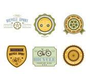 Typographic Bicycle Themed Label Design Set - Bike Stock Image