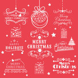 Typographic and calligraphic collection for Christmas and New Ye Stock Photo