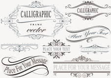 Typographic Calligraphic Frames Royalty Free Stock Photography