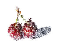 Typographic_cherry. A typographic cherry royalty free illustration