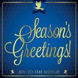 Typographic Christmas card Stock Image