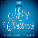 Typographic Christmas card Royalty Free Stock Images