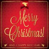 Typographic Christmas card Stock Photos