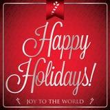 Typographic Christmas card Royalty Free Stock Photos