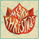 Typographic Christmas greeting card design. Grunge vector illustration. Stock Images