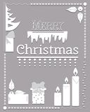Typographic Christmas text and Design element vector Royalty Free Stock Images