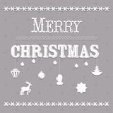 Typographic Christmas text and Design vector Royalty Free Stock Image