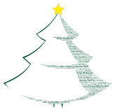 Typographic Christmas Tree Royalty Free Stock Photo