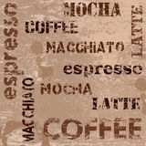 Typographic coffee poster Royalty Free Stock Images